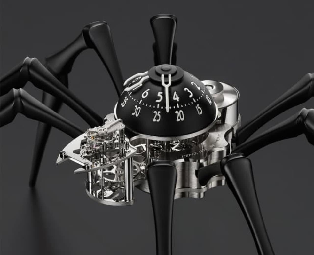 クモ型をした時計「Arachnophobia(アラクノフォビア:クモ恐怖症)」