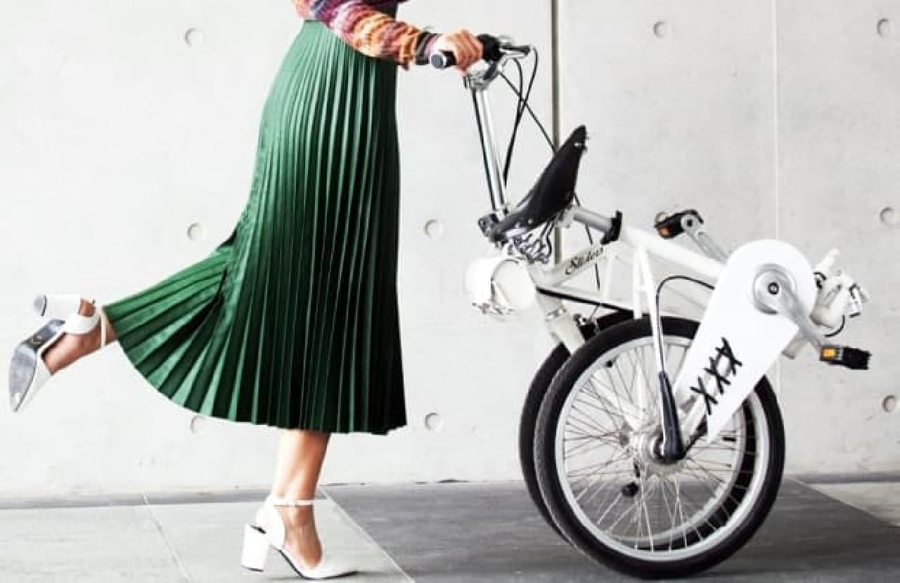 女性のためのエレガントな折り畳み自転車「SLIDERS」