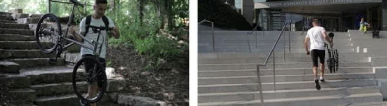 階段、楽勝!!