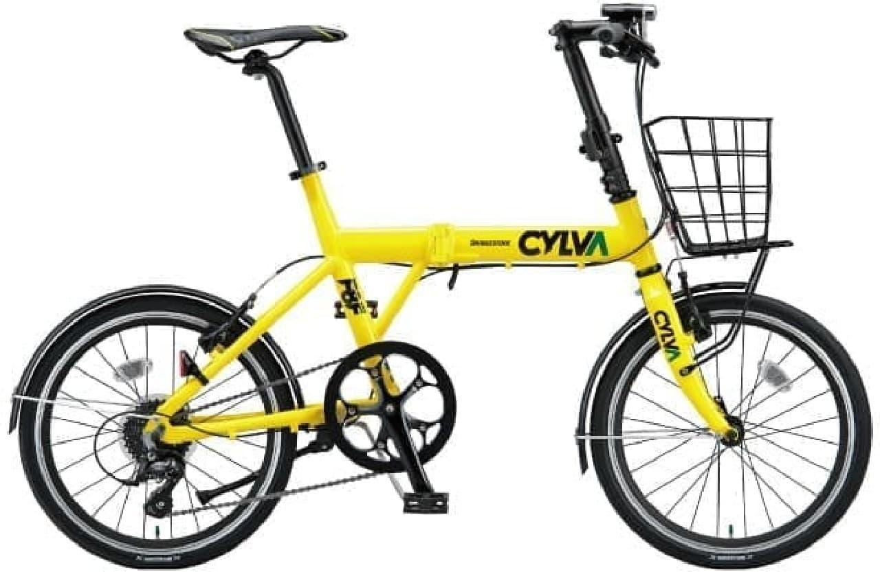 「CYLVA F8F」にオプションを装着した例  カラーは「E.Xサンイエロー」