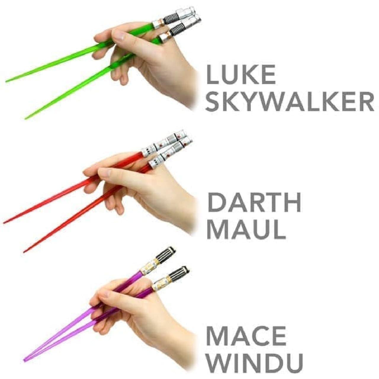 こちらはライトサーベル型のおはし「Star Wars Chop Sabers」