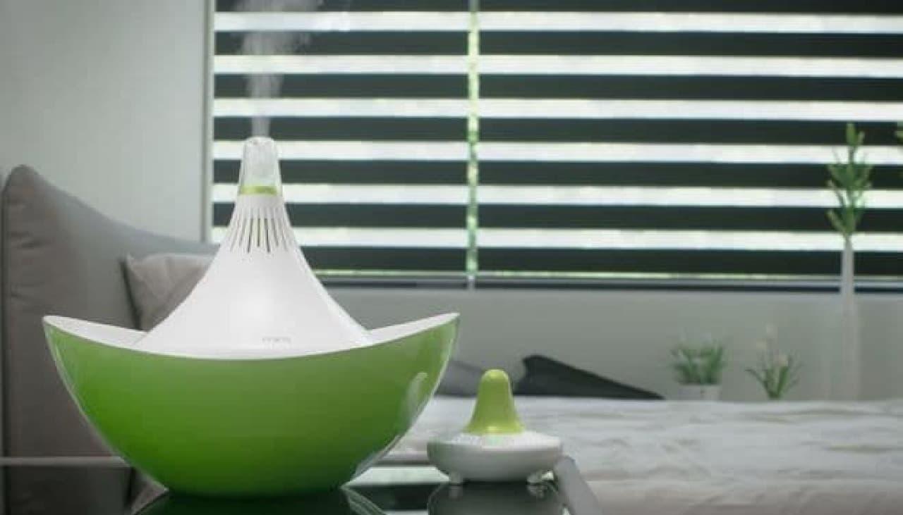 水に浮かべて利用する超音波式加湿器「MIRO CleanPot」の新モデルが販売開始