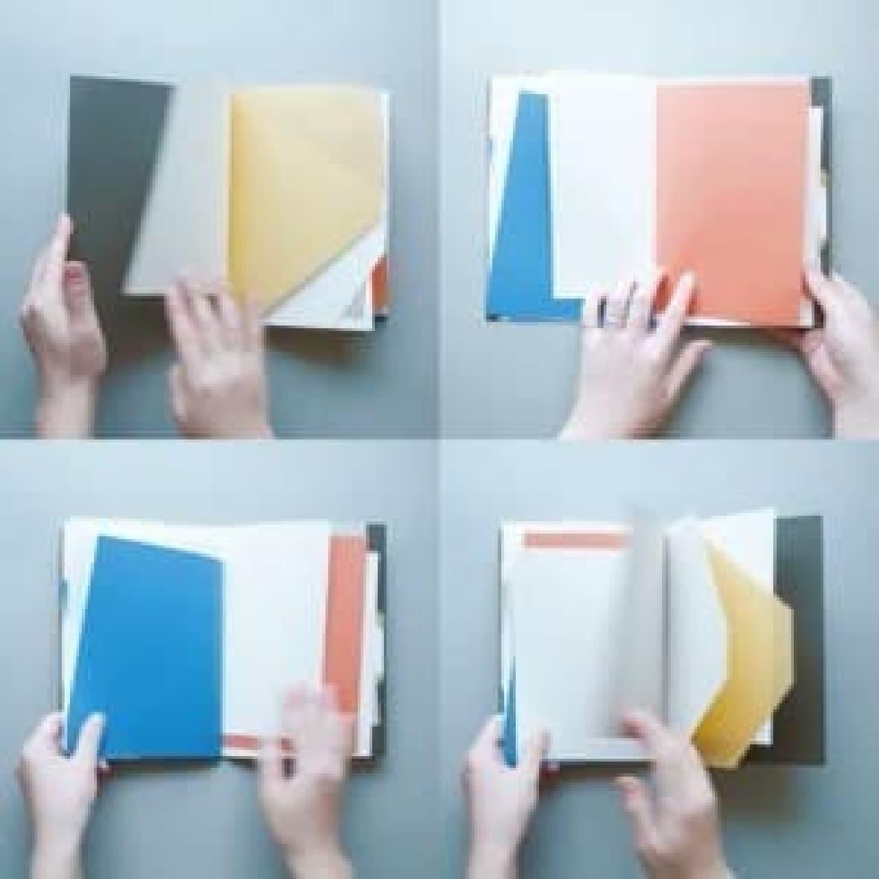 本を綴じてオリジナルノートを作るワークショップも