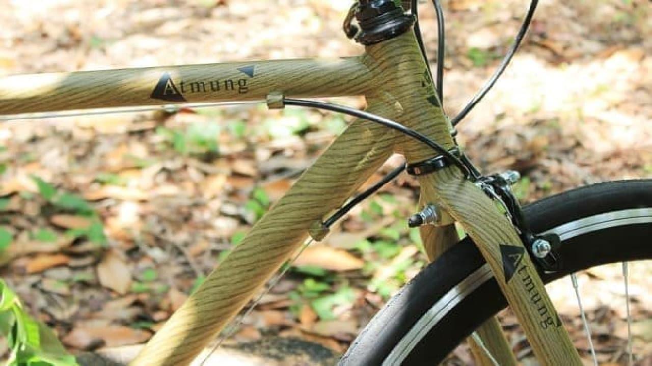 木目調クロスバイク「Wood-Atmung(アートムング:森の呼吸)」