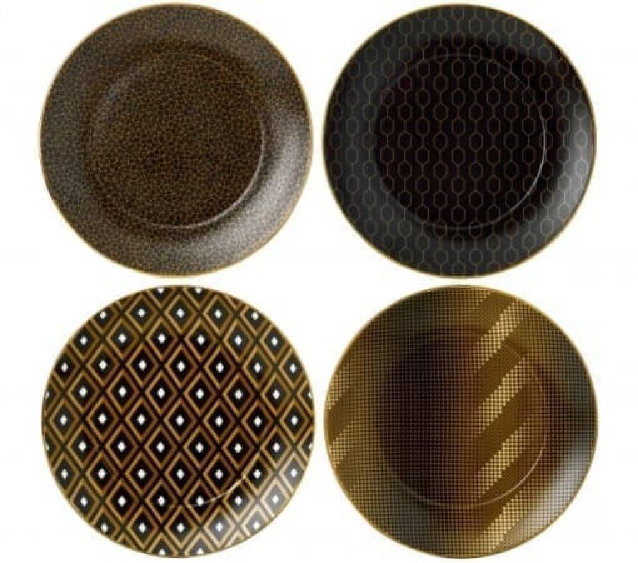 異なるパターンを組み合わせてもオシャレ  プレート(20cm)/5,000円