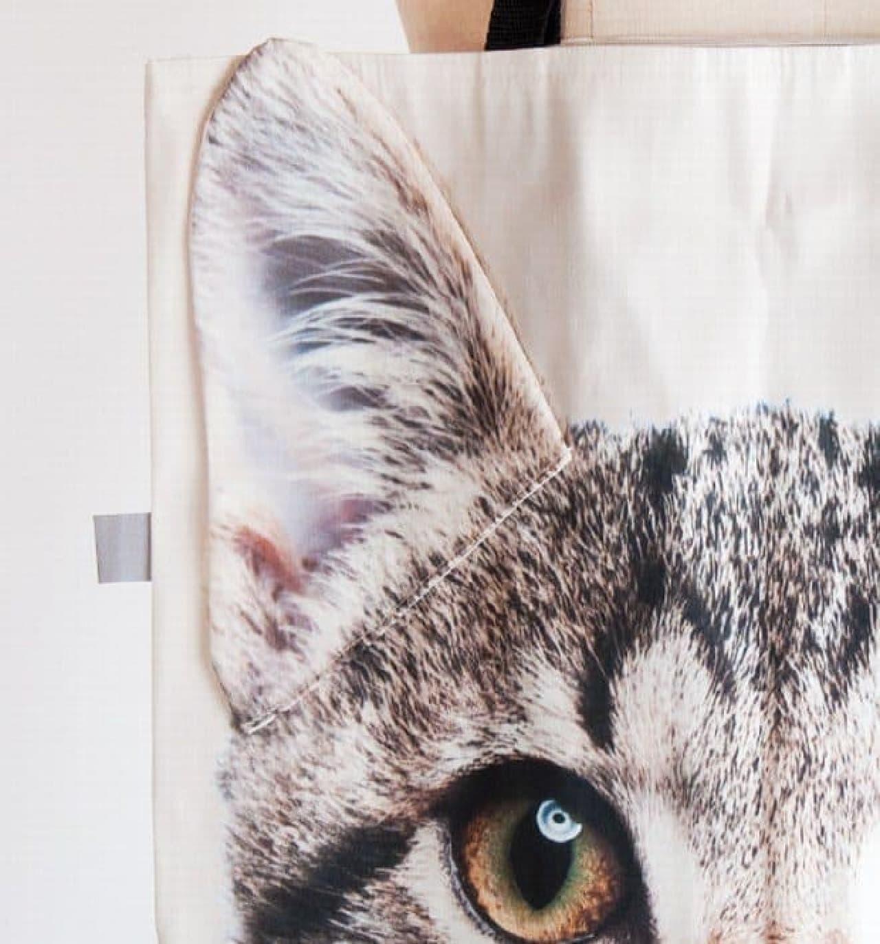 """Limitless Bags UKの特徴である""""立体ネコ耳"""""""