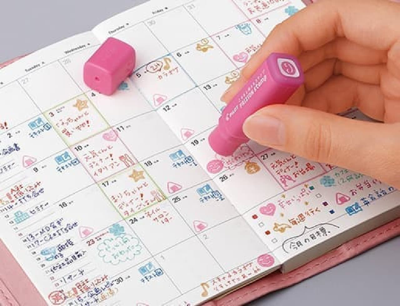 インキは裏抜けしにくく、手帳やカレンダーに便利