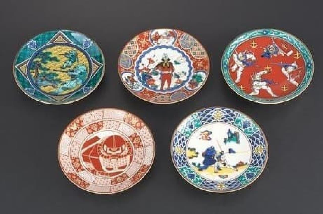 ガンダム豆皿5枚セット(6,480円)