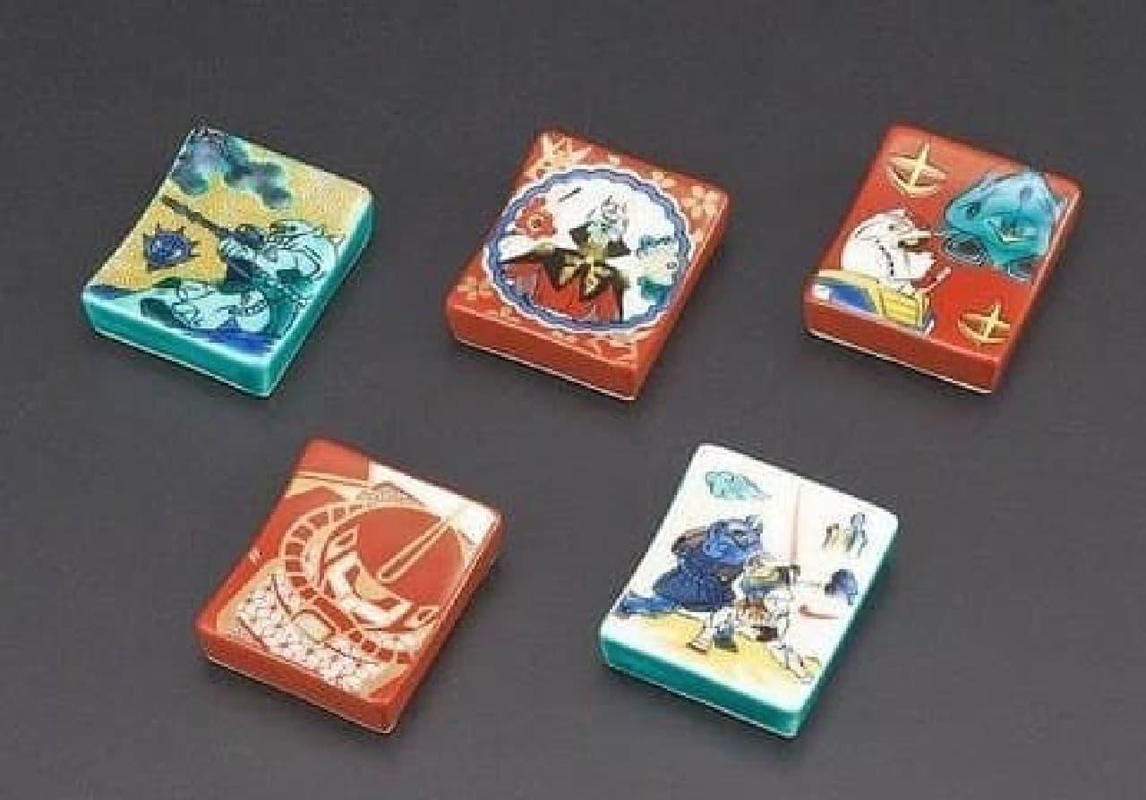 ガンダム箸置き5個セット(3,780円)