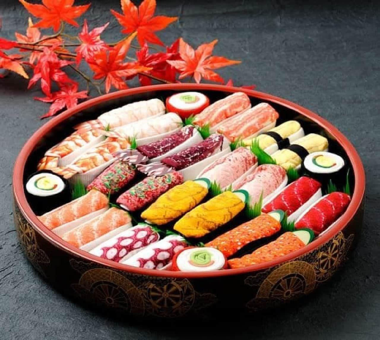 豪華な寿司桶に入った「Sushi Socks Gift Sets」特上