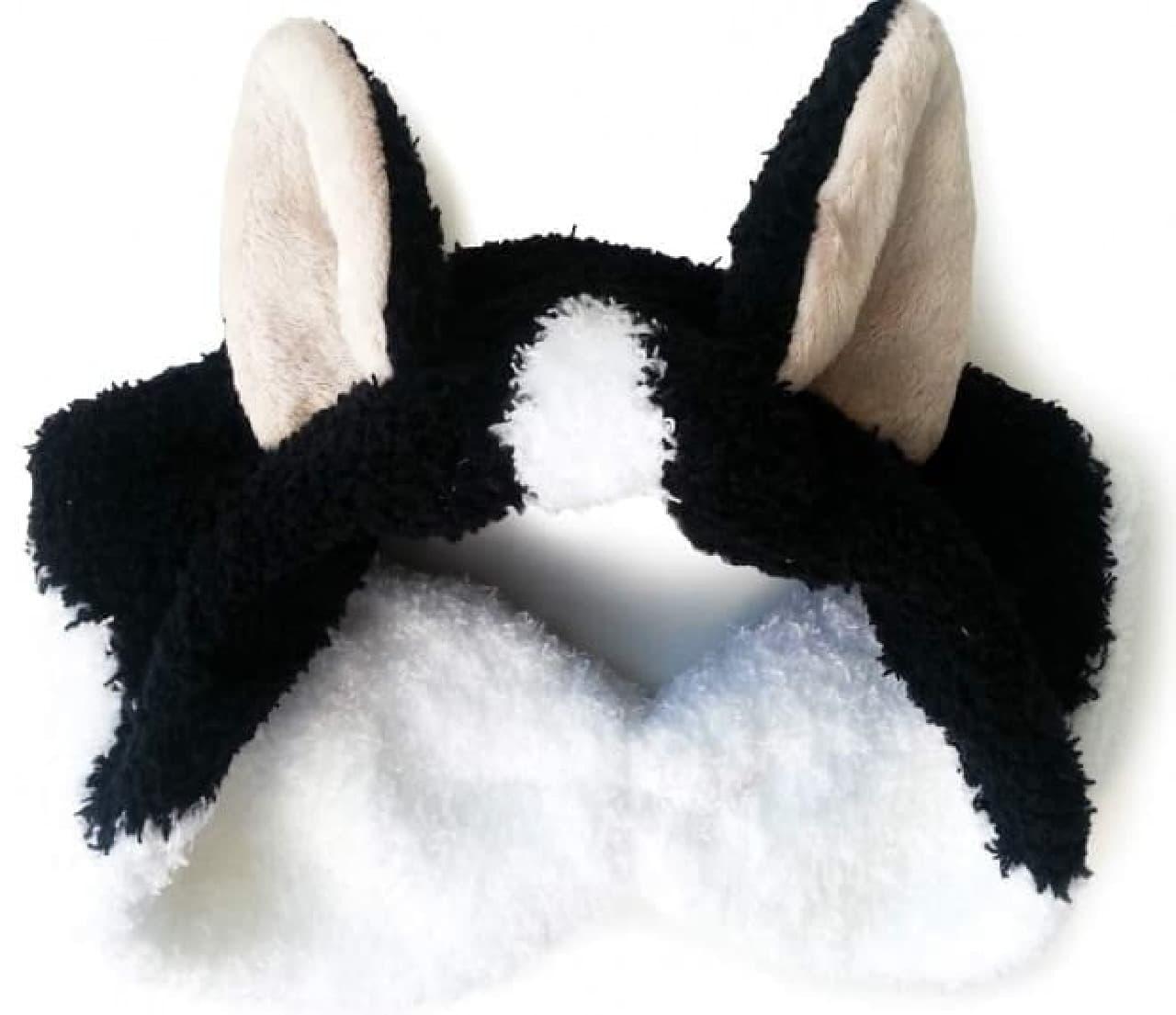 「ハチワレ猫耳もふもふヘアターバン」