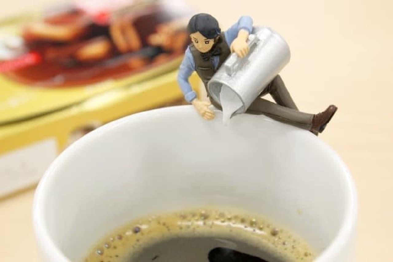 「ミルク入れる?」