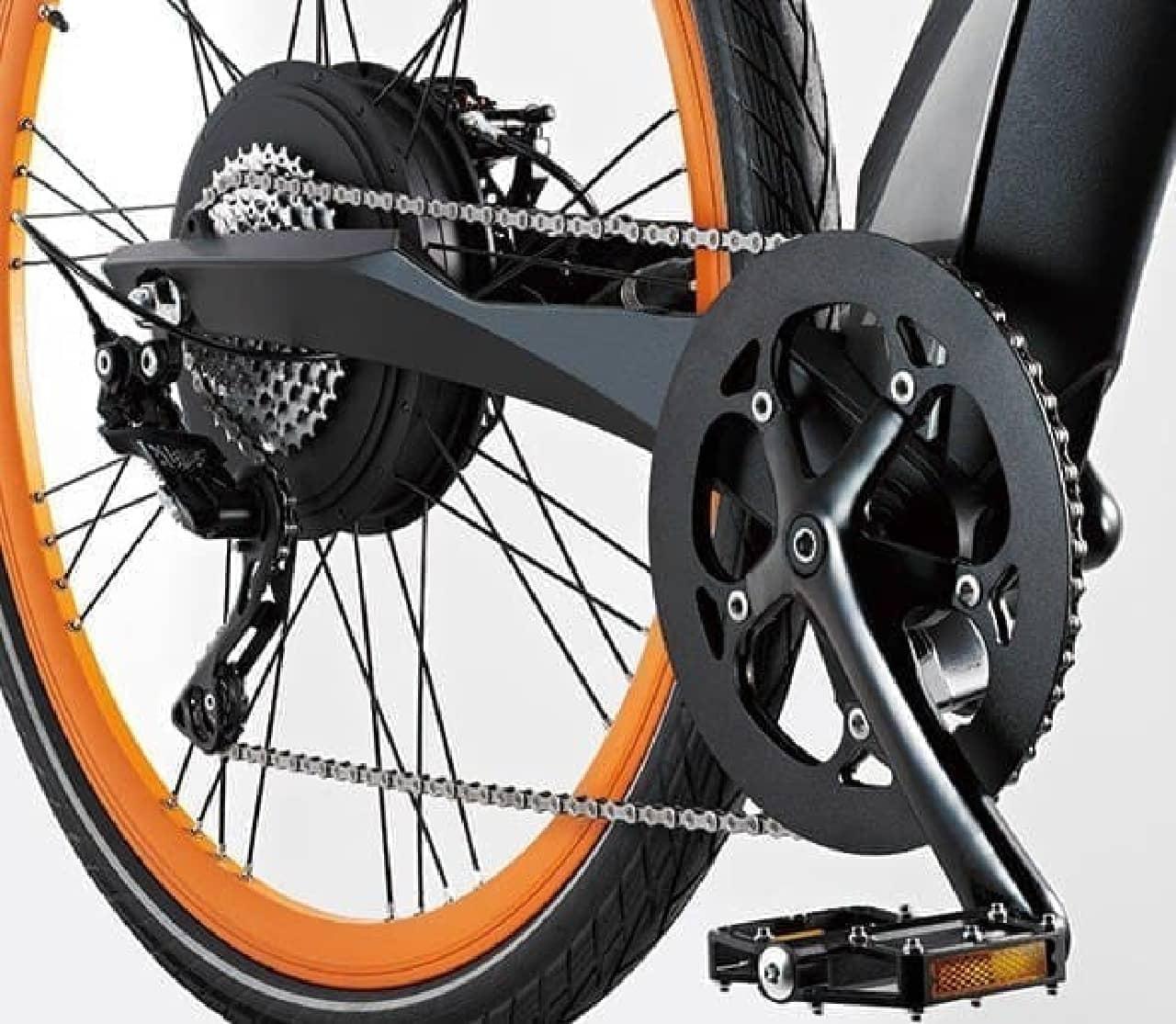 700×35cの大径タイヤを採用  長距離走行に対応している
