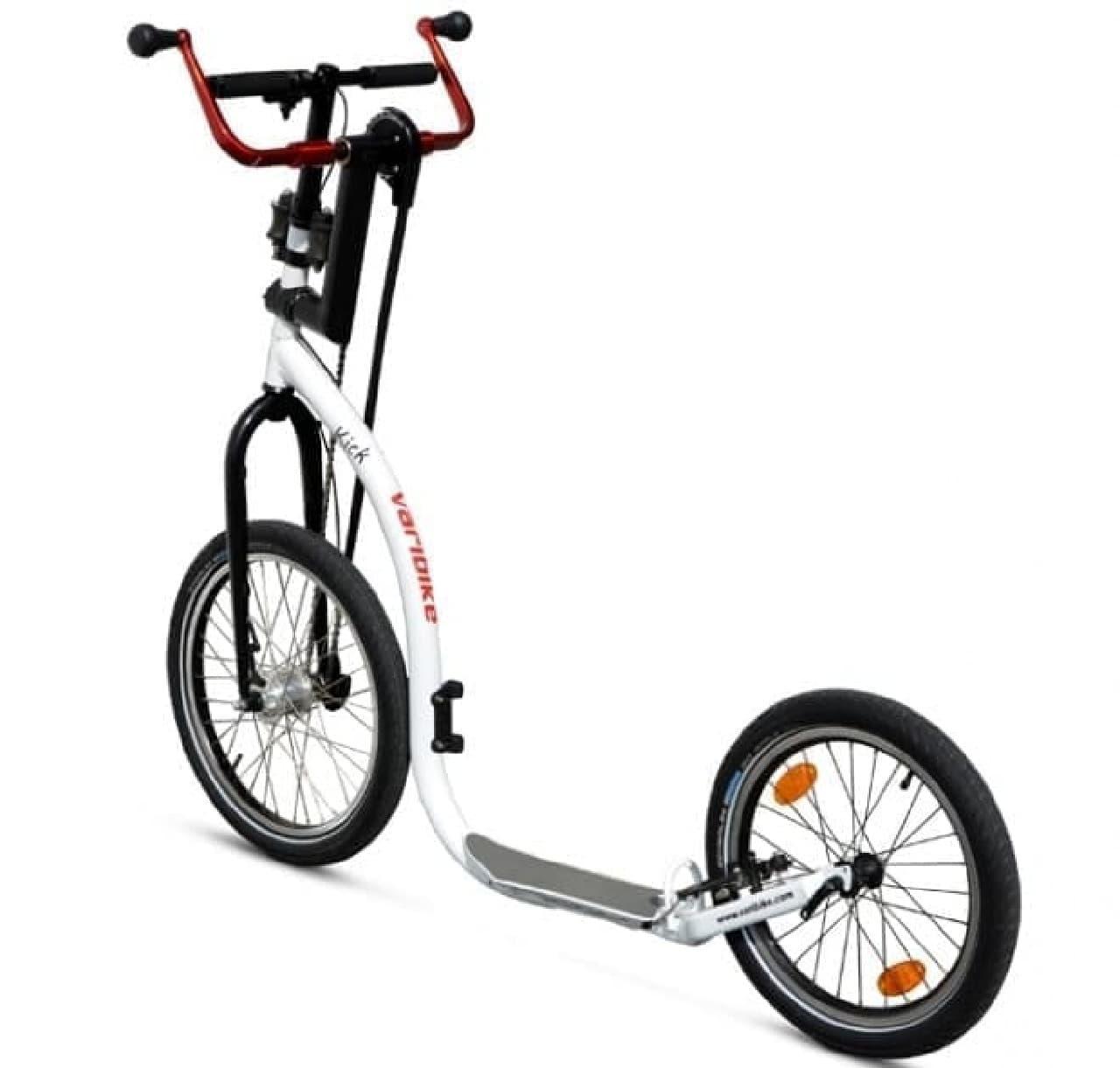 上半身の強化ができる自転車「Kick-Varibike」  足漕ぎペダルの無い潔さが素敵だ