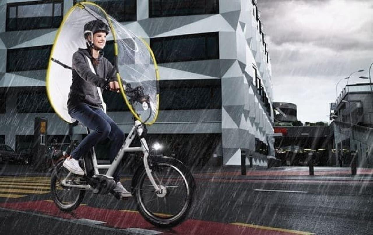 自転車用雨よけシールド「dryve」