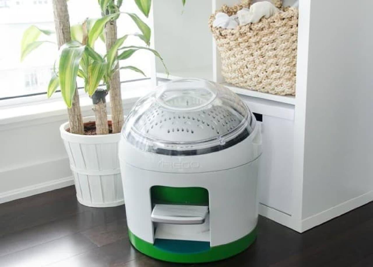 環境に優しい足踏み式洗濯機「Drumi」