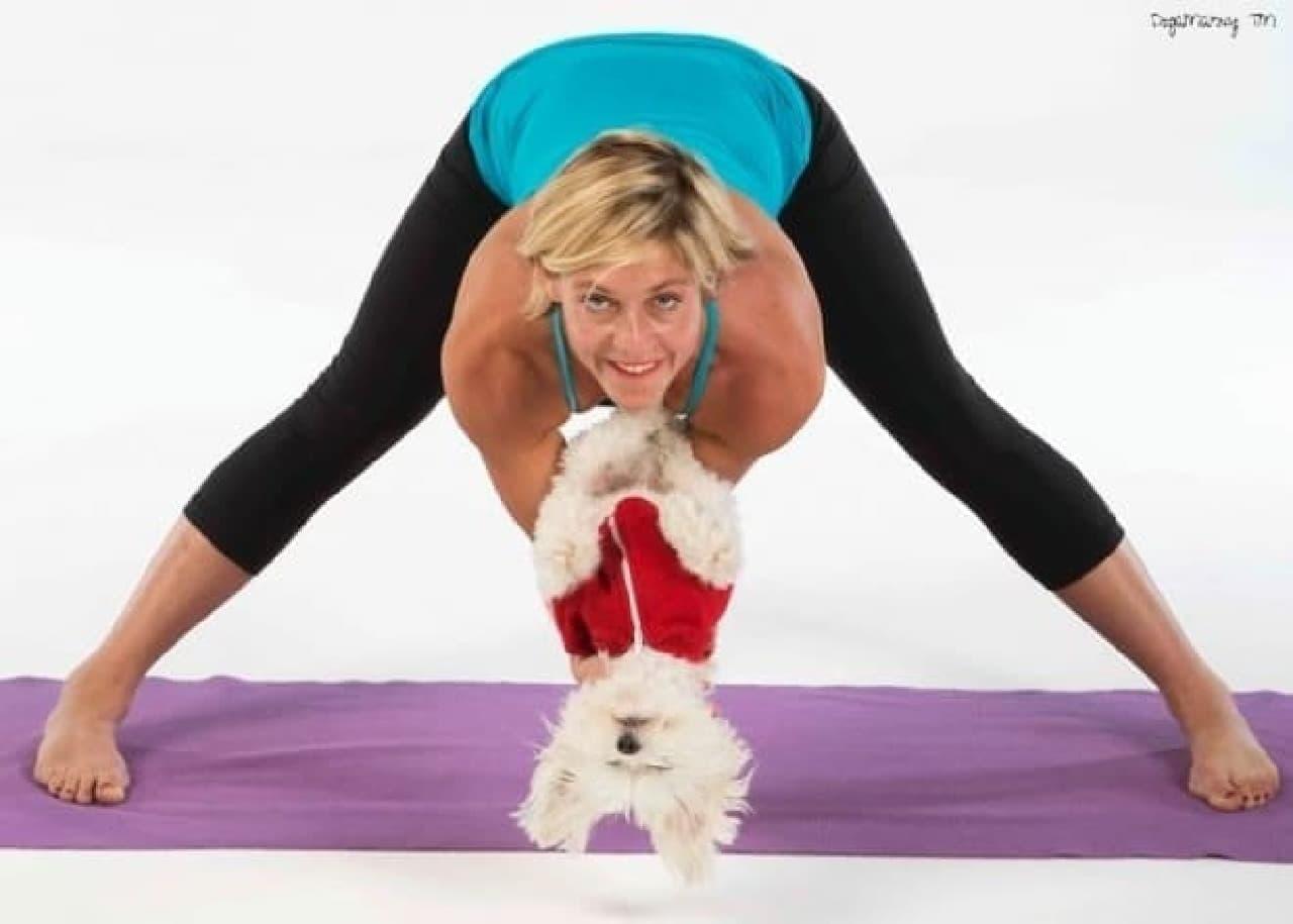 「Doga:Yoga for you and your dog(英文)」の著者  ヨガインストラクターのMahny Djahanguiriさん