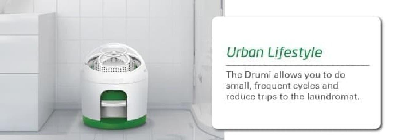 これを部屋でメイン洗濯機として使い  洗濯機置き場には別の物を置いて、スペースを有効活用するとか?