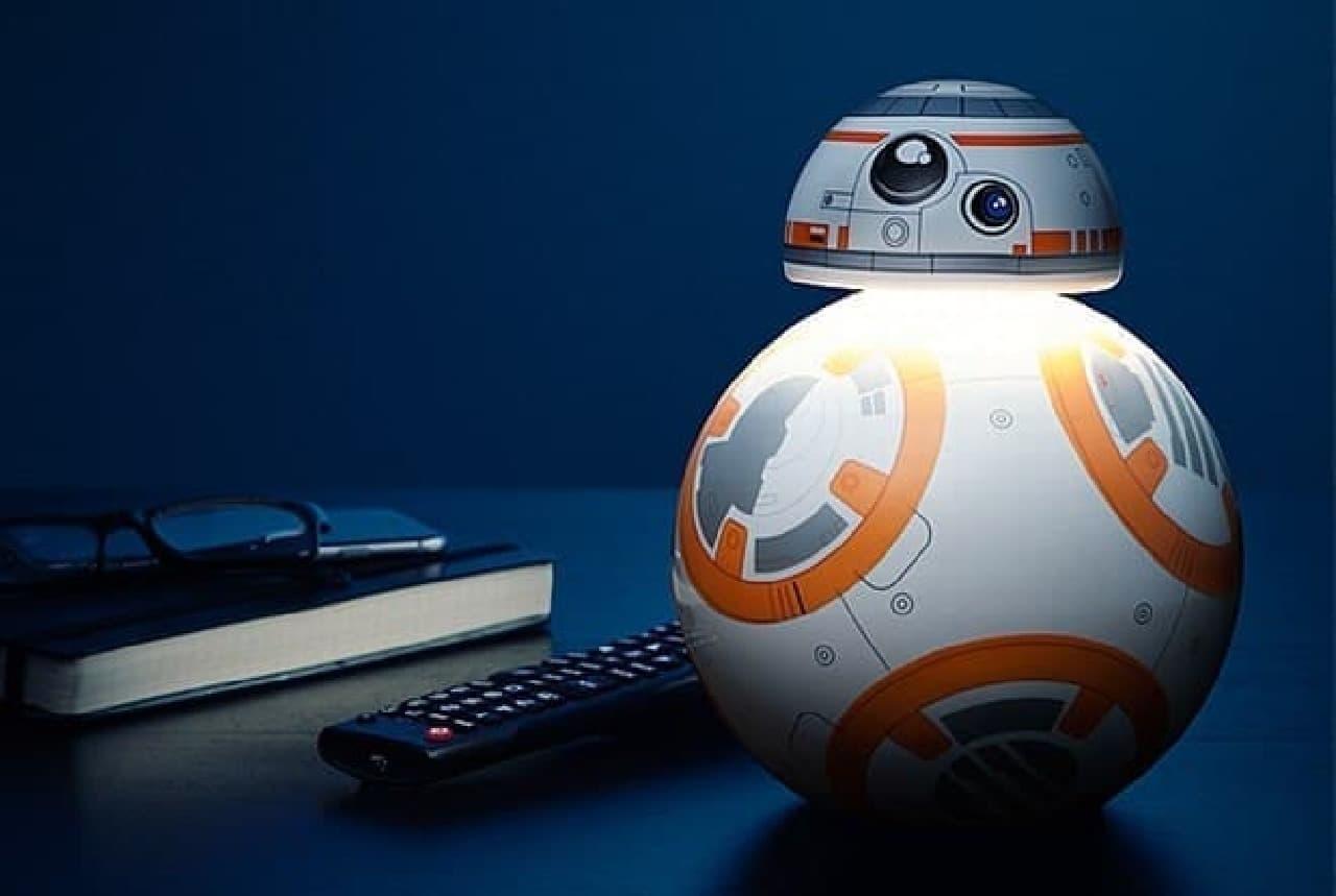 BB-8のデスクトップランプ  ある意味、間接照明?