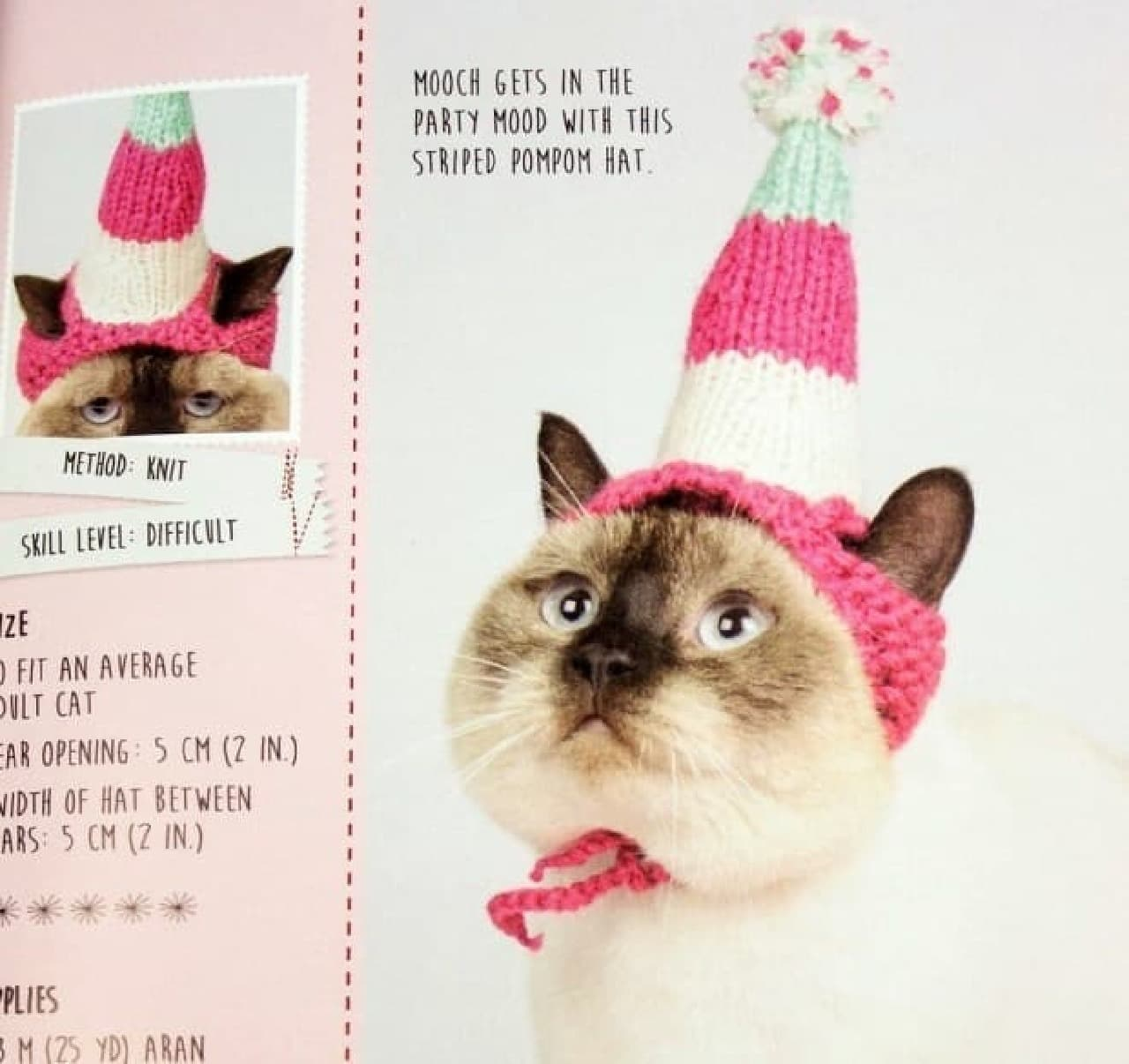 ネコ向けニット帽の編み方教本「CATS IN HATS - HOW TO KNIT AND CROCHET(英語版)」