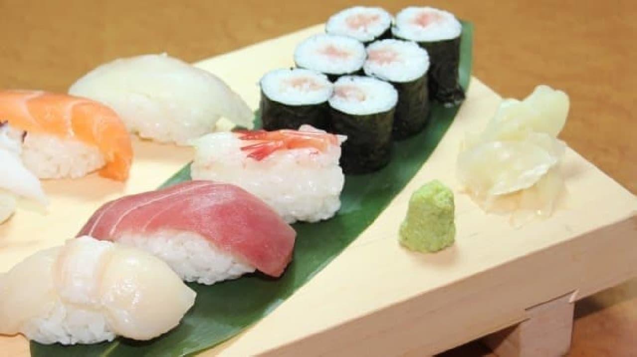 お寿司屋さんでは、寒い日は生姜を多め?  (画像はイメージです)