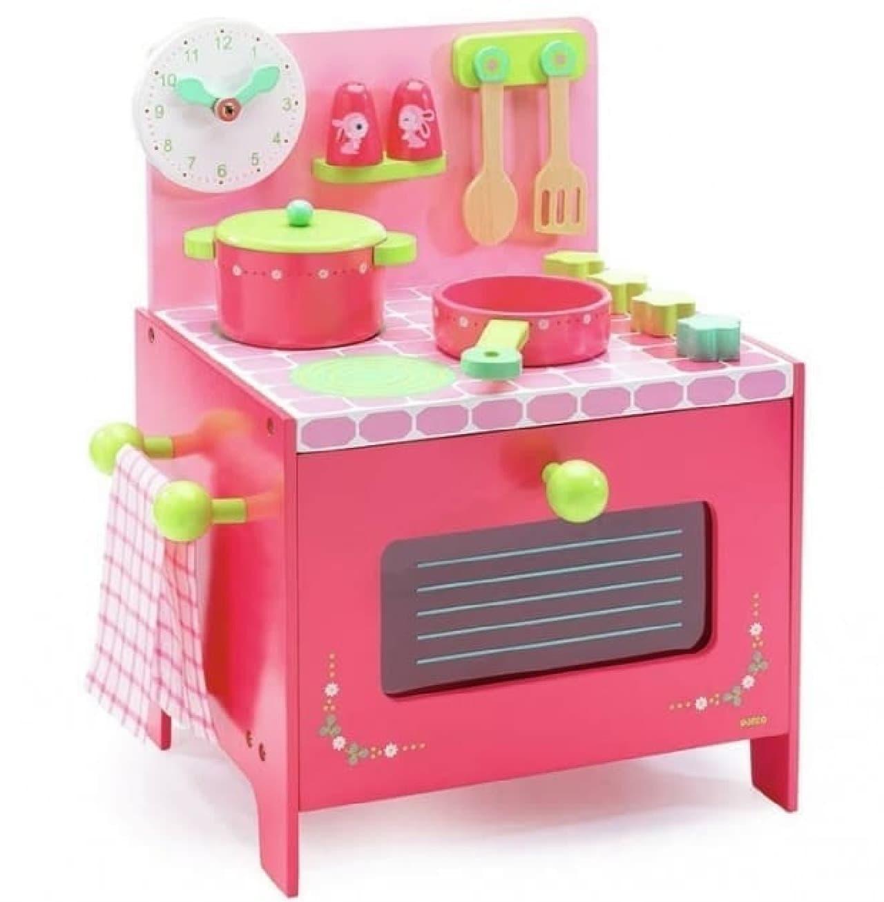 「DJECO(ジェコ)」による玩具の例:「リリローズ クッカー」   ままごと遊びを通じて想像力を養える玩具