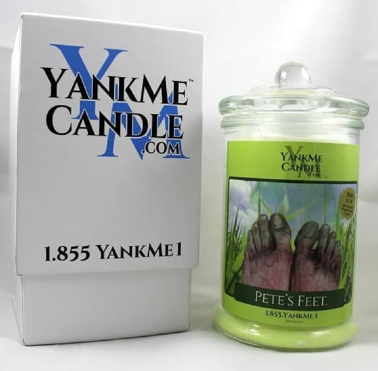 Yank Me Candlesが販売するアロマキャンドル「ピートの足」  ピート、足を洗えよ…
