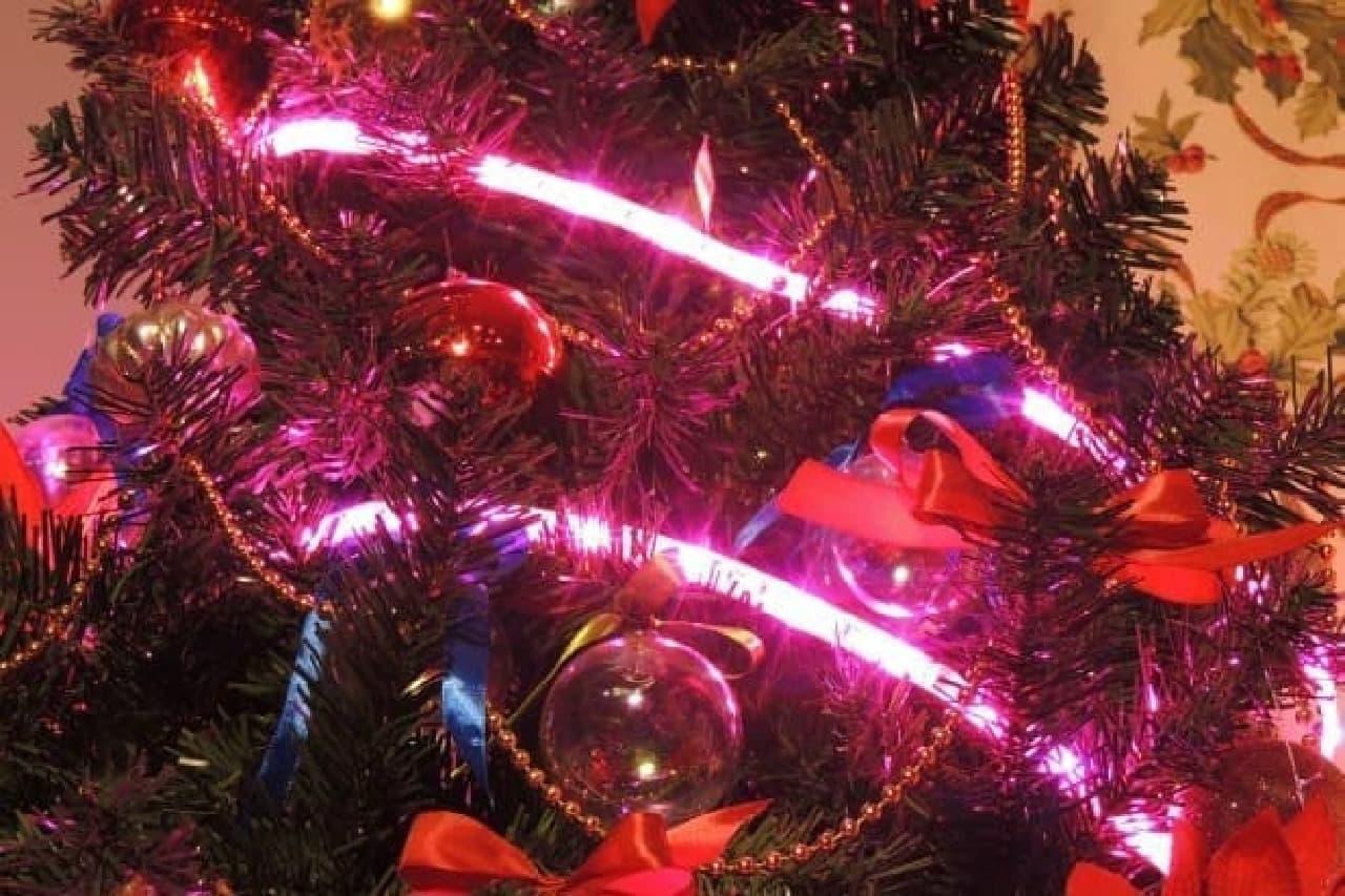 クリスマスツリーにも