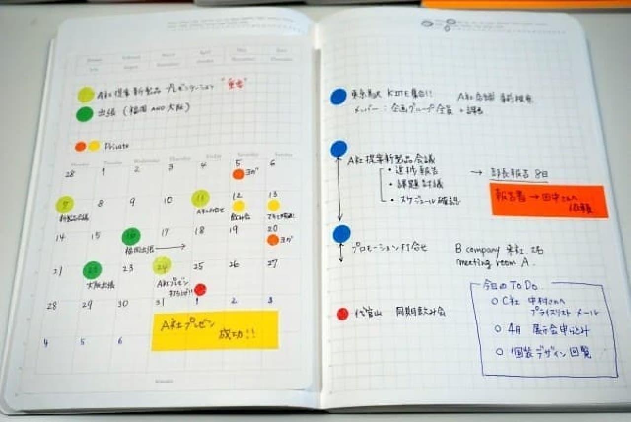日記やスケジュール帳、プロジェクト管理など使い方は様々