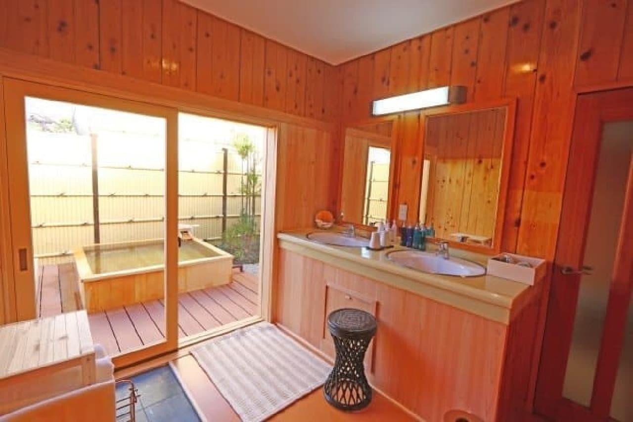 一部の部屋は露天風呂付き