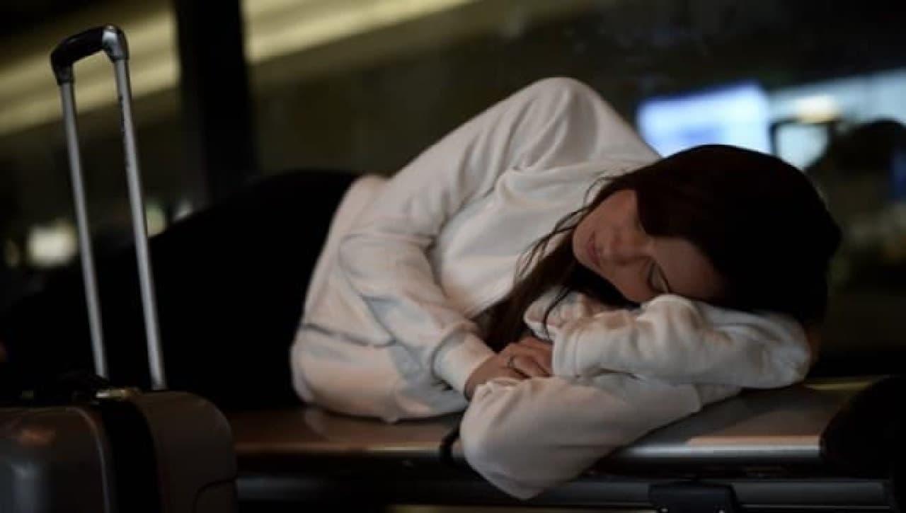 空港ロビーでの仮眠にもぴったり