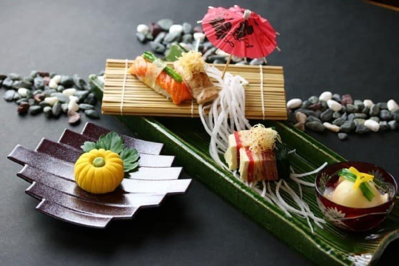 「鬼怒川 絆」では、食事も愛犬と一緒に取れる  画像は愛犬用の夕食の例