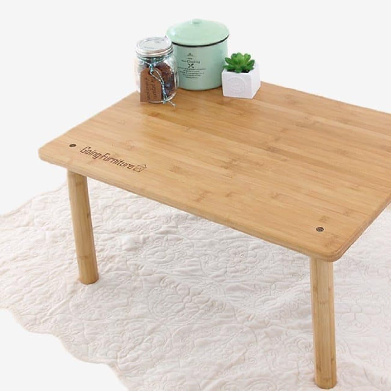 天板をひっくり返せば、普通の木製テーブルに