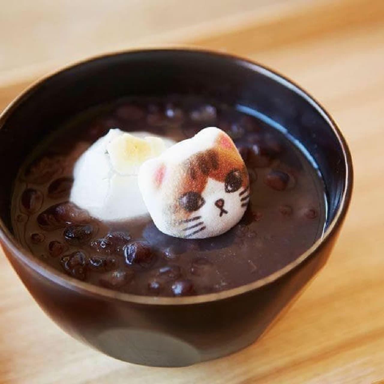 ミニ和風ニャシュマロ(猫ほうずい)  (画像は、ぜんざいのトッピングとして利用した例)