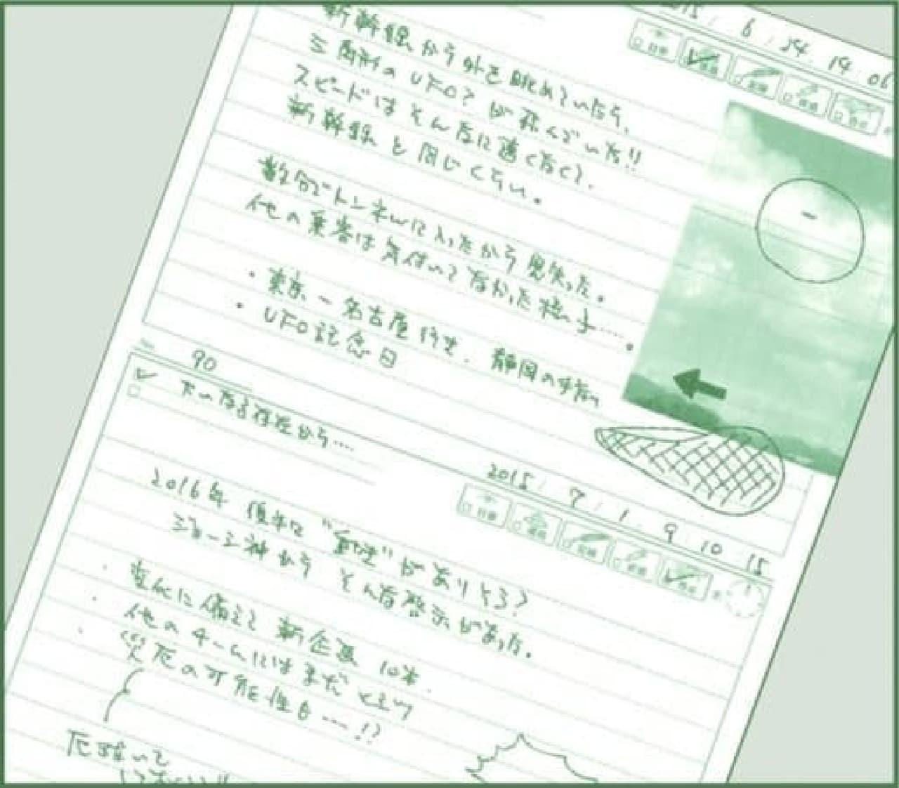 ノート使用例  使いきれるだろうか…