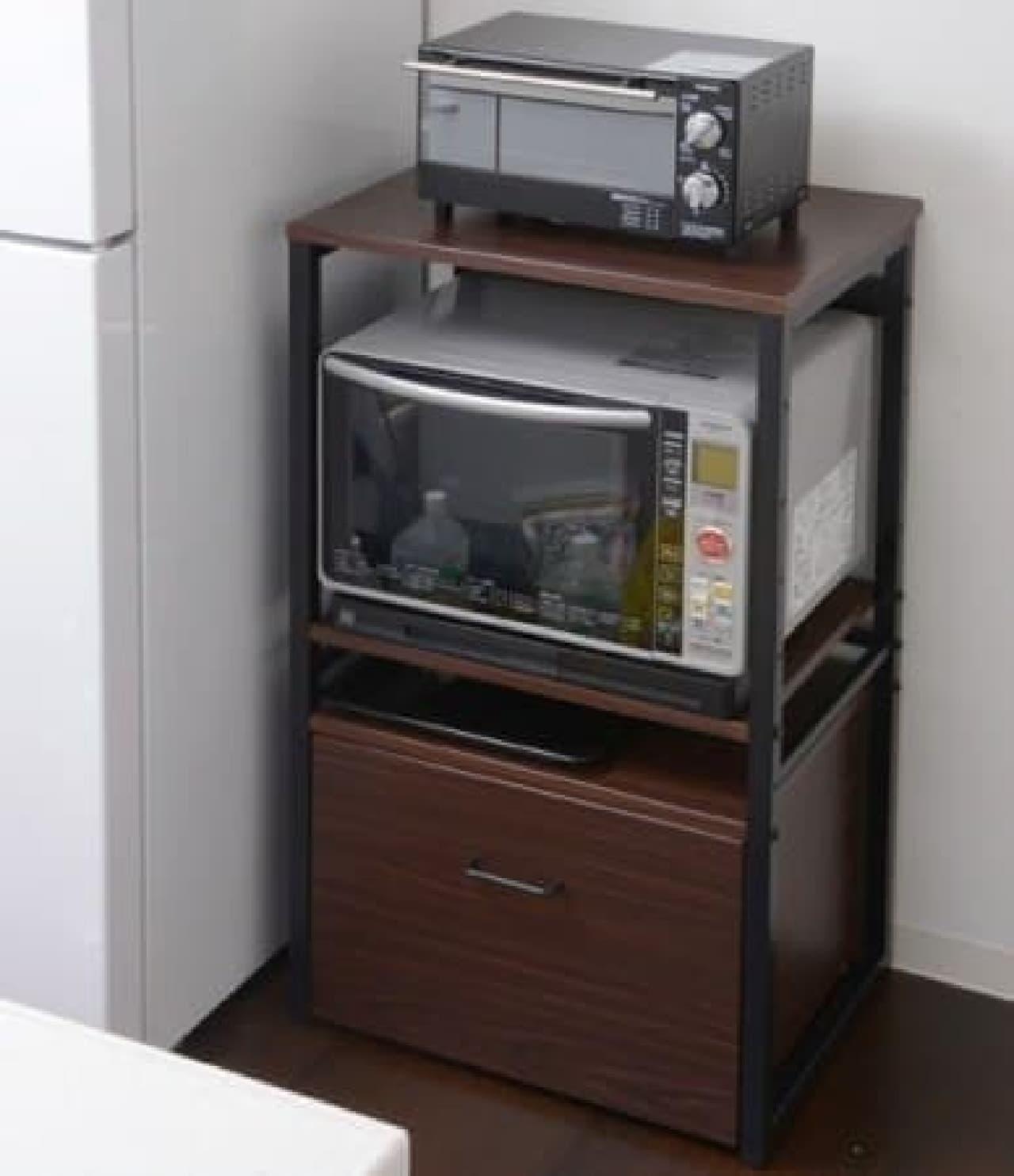 電子レンジ、トースター、ホットプレートなどをスッキリ収納