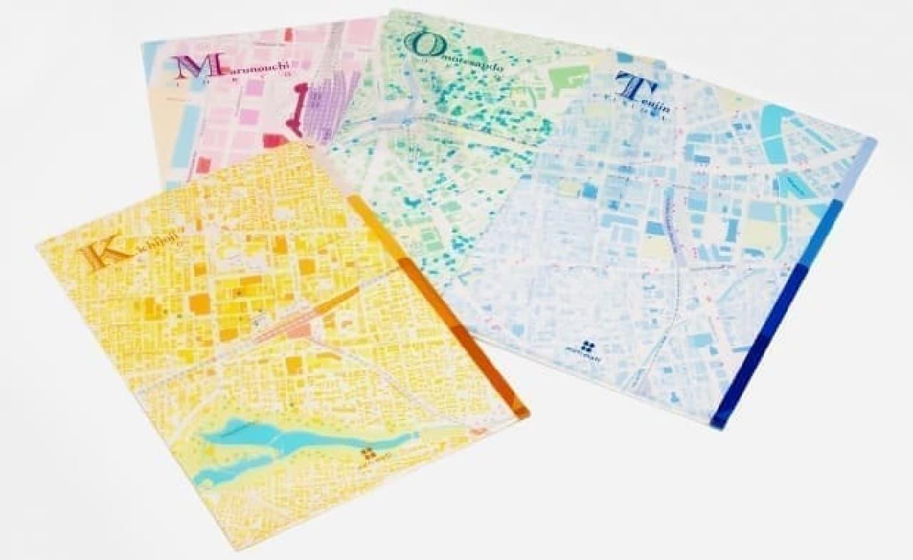 ゼンリンの地図ステーショナリー「mati mati(マチマチ)」