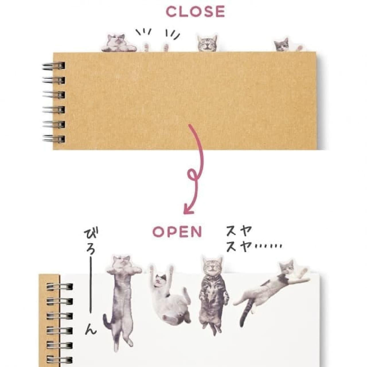 デザインその3:「開けると・・・・・・猫」  びろ~~ん
