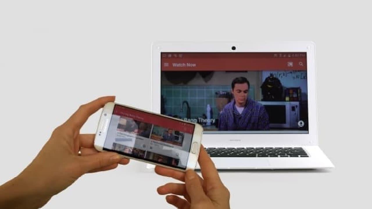 Androidスマートフォンのリモートモニターとして活用する例  大きめ画面で動画などを楽しめる