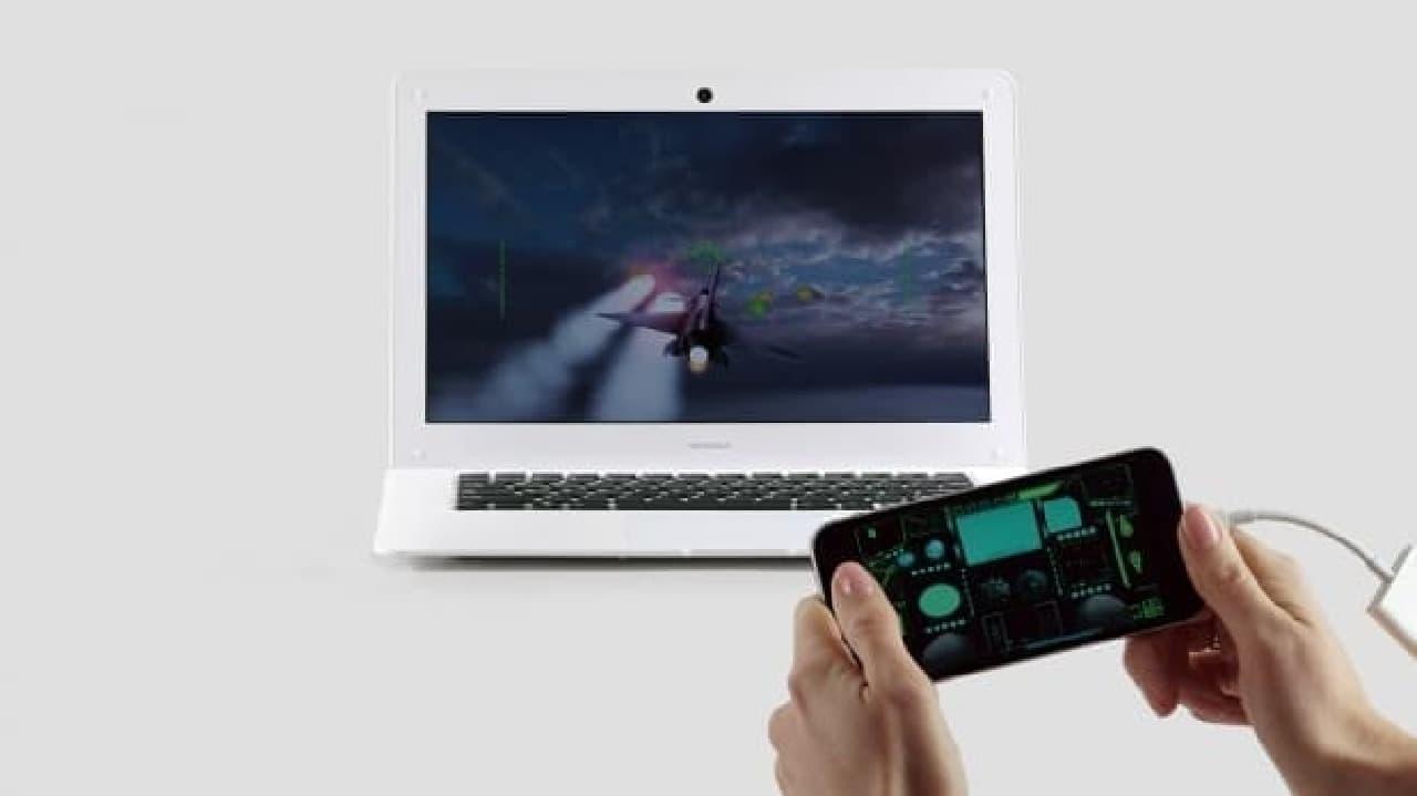 AirPlay対応ゲームでは、iPhoneをゲームコントローラーに