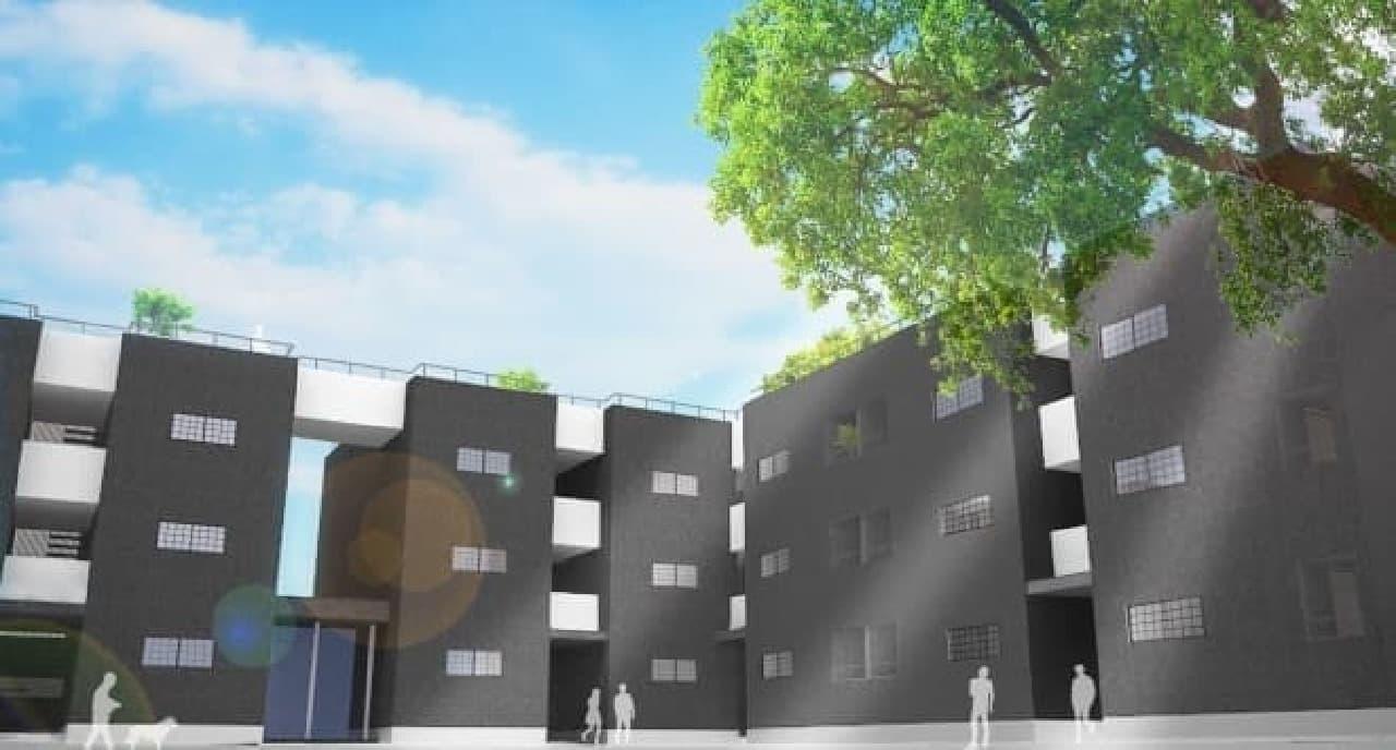 「ドッグパーク」を併設したペット共生型賃貸『dog park apartment Bamboo House』