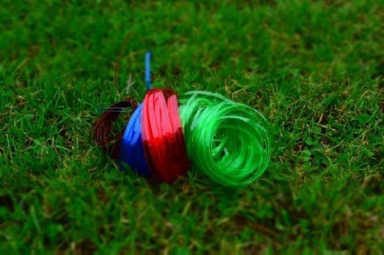 細いロープに加工できます