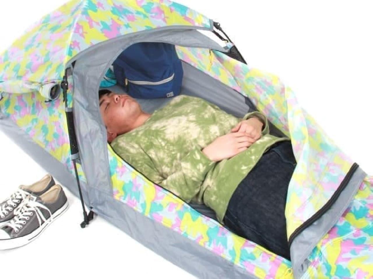オヒトリサマ専用の小型テント「スキマテント」