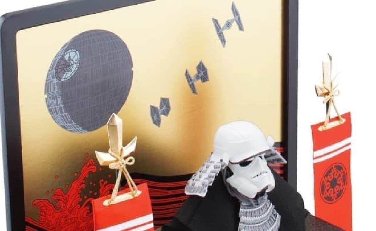 タイ・ファイターやデス・スターの描かれた屏風  それだけで、少しワクワク?  (C)& TM Lucasfilm Ltd.