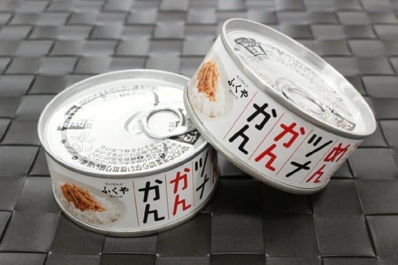 昨年3月に発売された「めんツナかんかん」  ちなみに100万缶を積み上げると福岡タワーの147倍になるそう