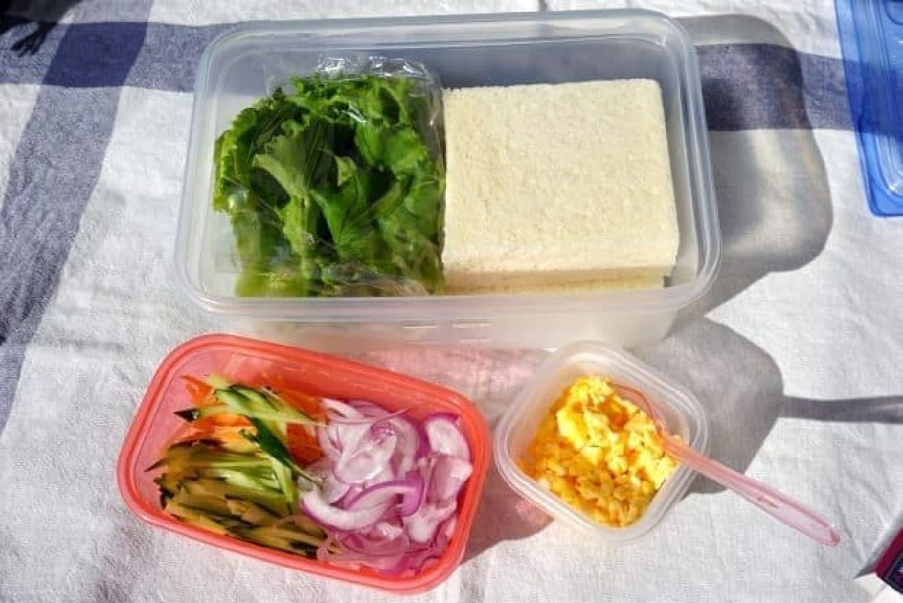 準備は冷蔵庫の野菜などを詰めるだけ
