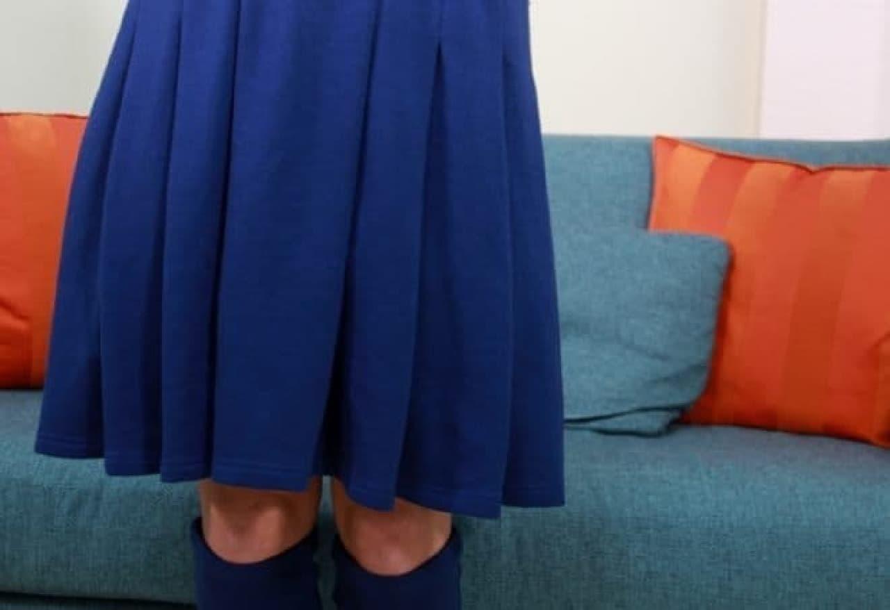 スカートのプリーツを再現  女子力、アップ?