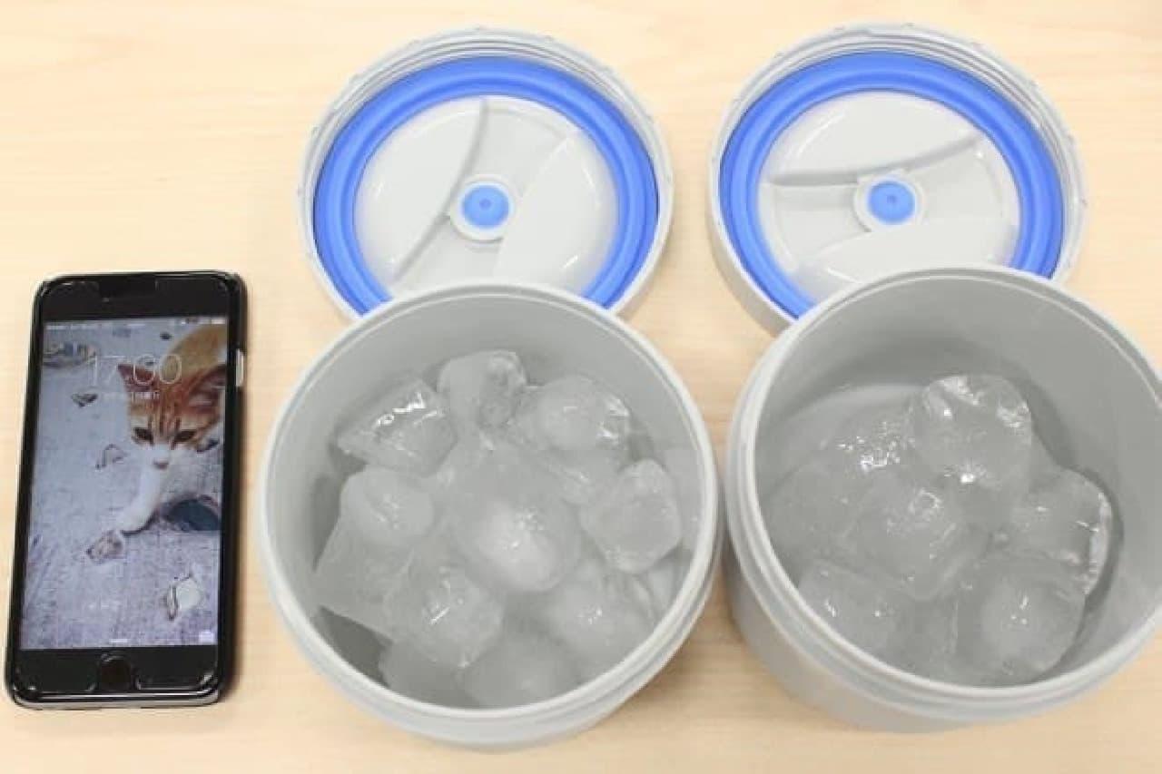 """午後5時。まだちゃんと""""氷""""の状態です!"""