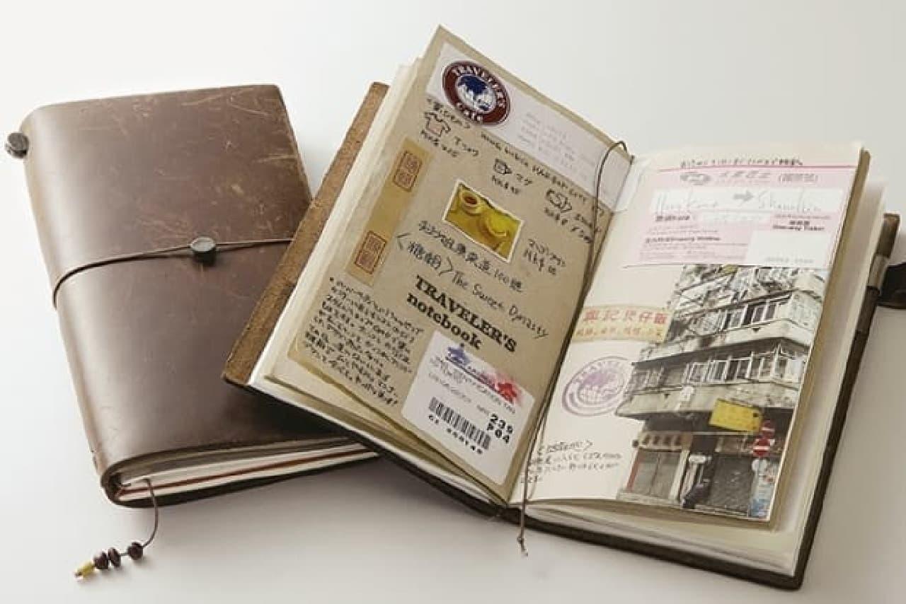 旅行はもちろん、日々の手帳にも