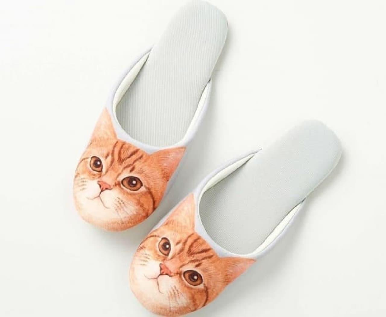「足音静かな猫足スリッパ」、Web予約販売開始  (画像は「マンクス」さん)